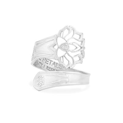 Buy Alex and Ani Lotus Peace Petals Spoon Ring in Silver