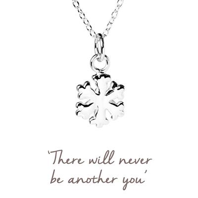 Buy Snowflake Mantra Necklace in Silver