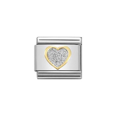 Buy Nomination Gold Glitter Heart Charm