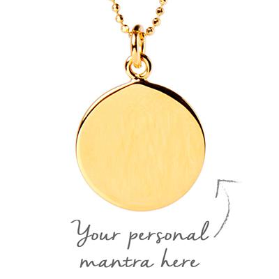Buy MyMantra 1.5cm Yellow Gold Personalised Necklace 45cm