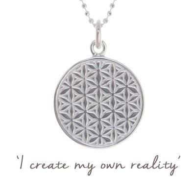 Buy Mantra Mel Wells Flower of Life Disc Necklace in Sterling Silver