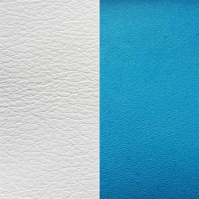 Buy Les Georgettes White/ Aqua Wide Leather