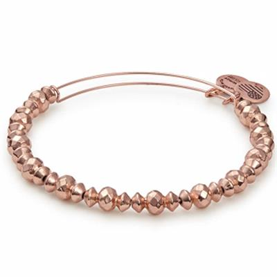Buy Alex and Ani Canyon Beaded Bangle in Shiny Rose Gold