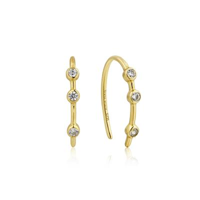 Buy Ania Haie Touch of Sparkle Gold Hoop Earrings