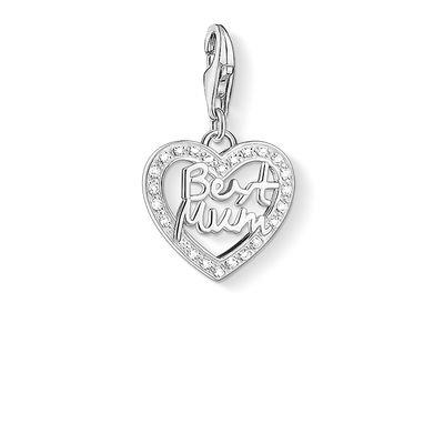 Buy Thomas Sabo Best Mum Sparkle Heart Charm