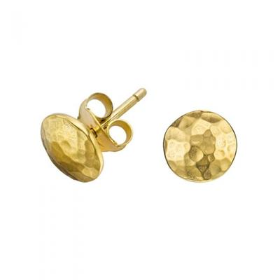 Buy Dower and Hall 18ct Gold Small Round Domed Studs