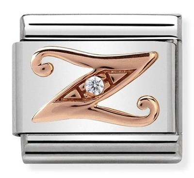 Buy Nomination Rose Gold CZ Letter Z