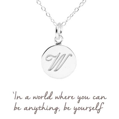 Buy W Mantra Initial Necklace