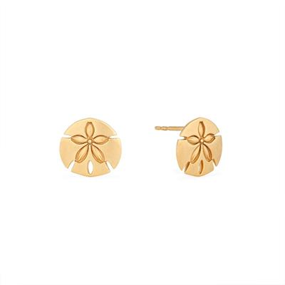 Buy Alex and Ani Sand Dollar Precious Studs in Gold