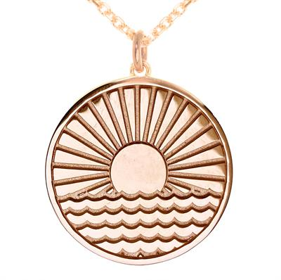 Buy MyMantra Sun Rising Over Water myMantra Necklace in Rose Gold