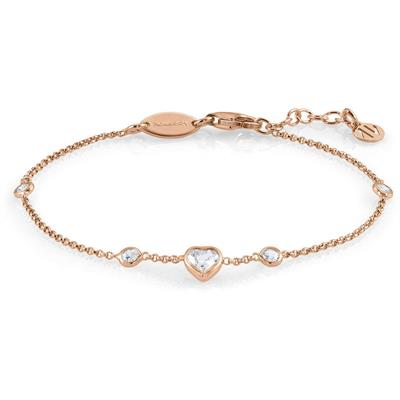 Buy Nomination Rose Gold Bella CZ Heart Bracelet
