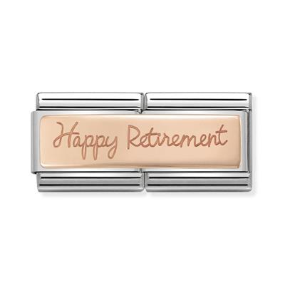 Buy Nomination Rose Gold Happy Retirement Double Link