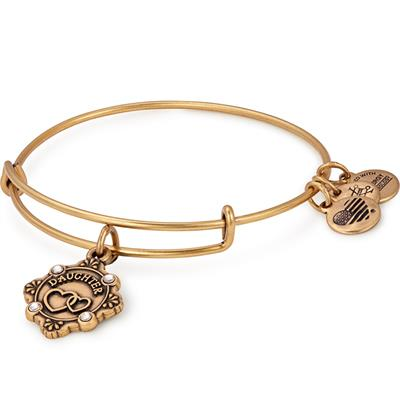 Buy Alex and Ani Because I Love You Daughter Bangle in Rafaelian Gold