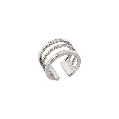Buy Les Georgettes Silver CZ Parallele Ring 54