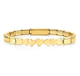 Buy Nomination Gold Trendsetter Hearts Bracelet