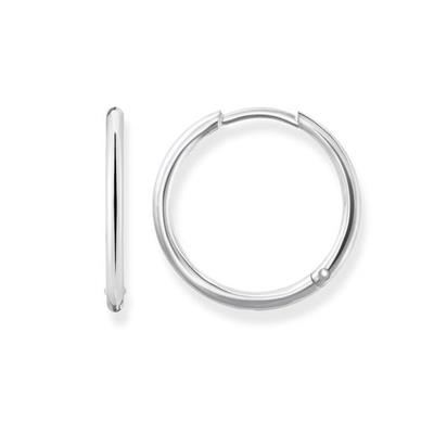 Buy Thomas Sabo Large Silver Hinged Hoop Earrings