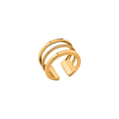 Buy Les Georgettes Gold CZ Parallele Ring 56