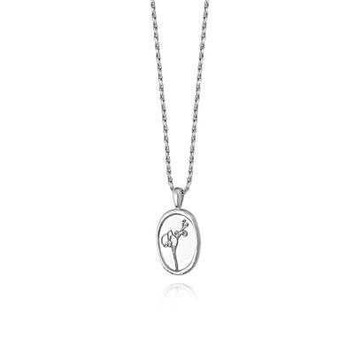 Buy Daisy Sterling Silver Orchid Necklace