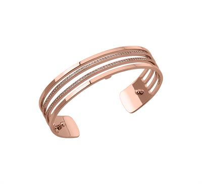 Buy Les Georgettes Slim Rose Gold CZ Parallel Cuff
