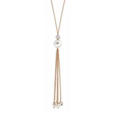 Buy Nomination Rose Gold Long Bella Pearl Tassel Necklace
