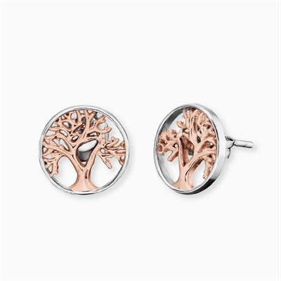 Buy Engelsrufer Rose Gold Tree of Life Studs