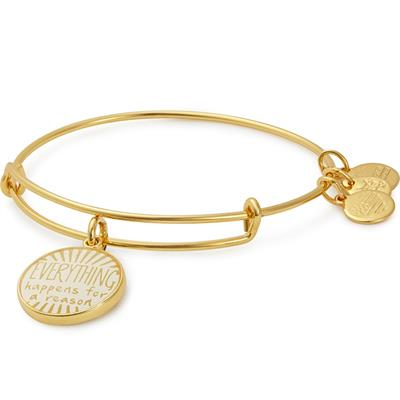 Buy Alex and Ani Everything Happens For A Reason Bangle in Shiny Gold