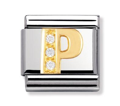 Buy Nomination Gold & CZ Letter P