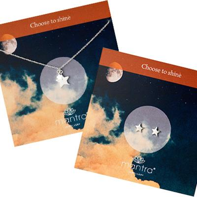 Buy Mantra Choose to Shine Necklace & Earrings Set