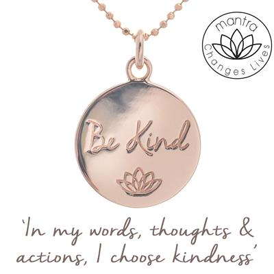 Buy Mantra Be Kind Bullying UK Charity Necklace in Rose Gold