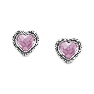 Buy Nomination Silver Pink CZ Heart Studs