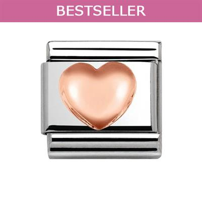 Buy Nomination Rose Gold Raised Heart