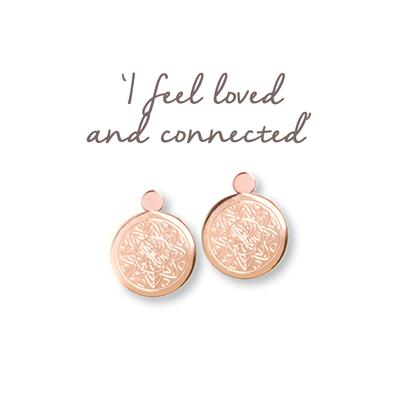 Buy Mantra Love Mandala Rose Gold Drop Earrings