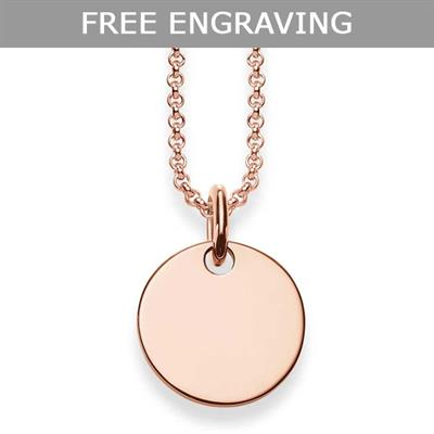 Buy Thomas Sabo Glam & Soul Engravable Rose Gold Disc Necklace
