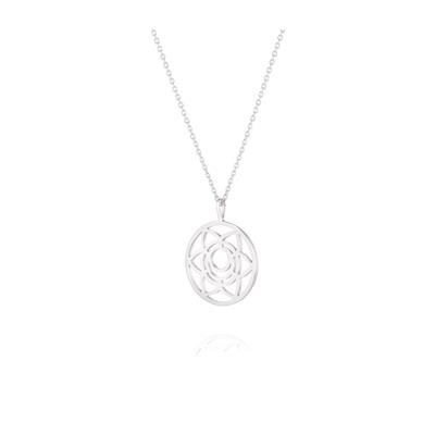 Buy Daisy Sacral Chakra Silver Short Necklace