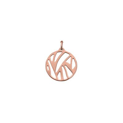 Buy Les Georgettes Medium Rose Gold Round Perroquet Pendant