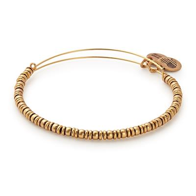 Buy Alex and Ani Rocker Beaded Bangle in Rafaelian Gold Finish
