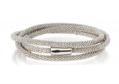 Buy Pure Attraction Silver Wrap Bracelet