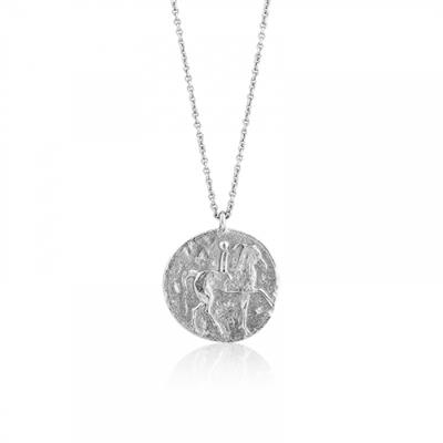 Buy Ania Haie Silver Roman Rider Medallion Necklace
