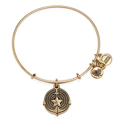 Buy Alex and Ani Anchor Coastal Odyssey in Rafaelian Gold Finish