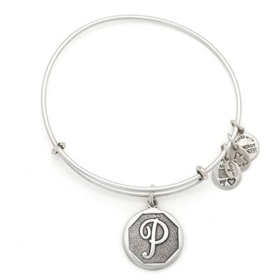 Buy Alex and Ani P Initial Bangle in Rafaelian Silver