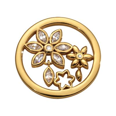 Buy Nikki Lissoni Gold Bouquet Wildflowers Coin 23mm