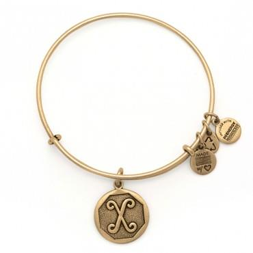 Buy Alex and Ani X Initial Bangle in Rafaelian Gold