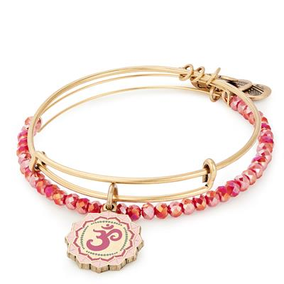 Buy Alex and Ani Om Set of 2 Bangles in Shiny Gold