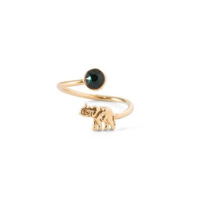 Buy Alex and Ani Elephant Crystal Ring Wrap in Gold