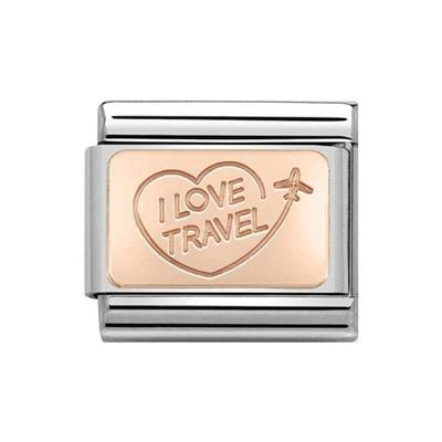 Buy Nomination Classic Rose Gold Symbols I Love Travel Charm