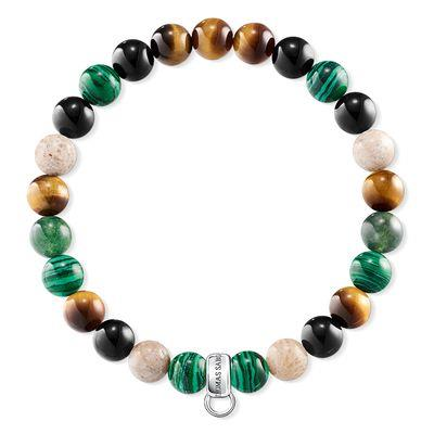 Buy Thomas Sabo Tiger's Eye Malachite XS Charm Club Bracelet