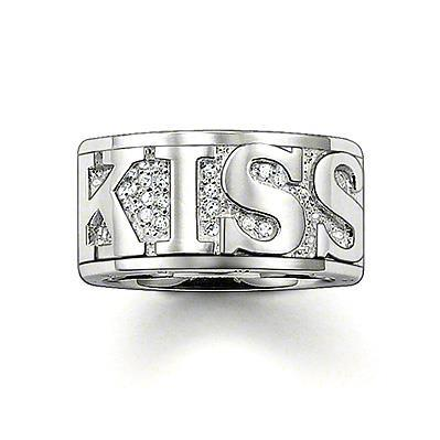 Buy Thomas Sabo Love Kiss Silver & CZ Ring, Size 56