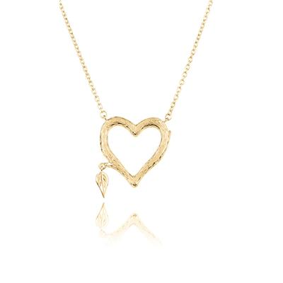 Buy Daisy Gold Heart Bark Necklace
