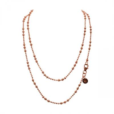 Buy Nikki Lissoni Rose Gold 80cm Graduated Beads Chain