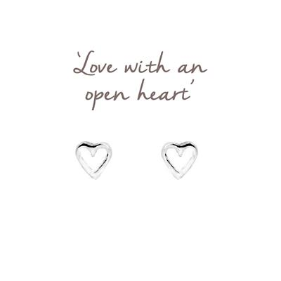 Buy Mantra Open Heart Studs in Sterling Silver